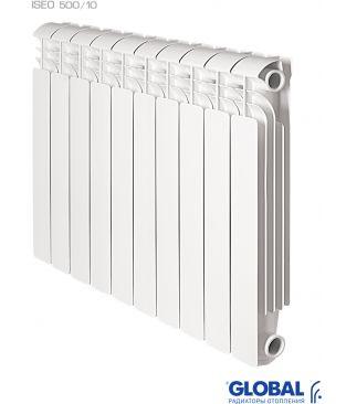Алюминиевый радиатор отопления Global ISEO 500 10 секций