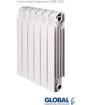 Алюминиевый радиатор отопления Global VOX R 500 5 секций