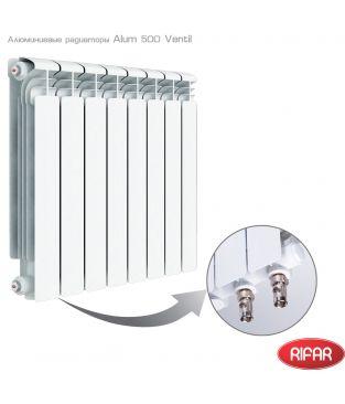 Алюминиевый радиатор отопления Rifar Alum 500 Ventil 14 секций