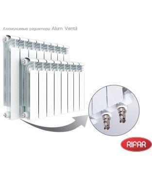 Алюминиевый радиатор отопления Rifar Alum 500 Ventil 8 секций