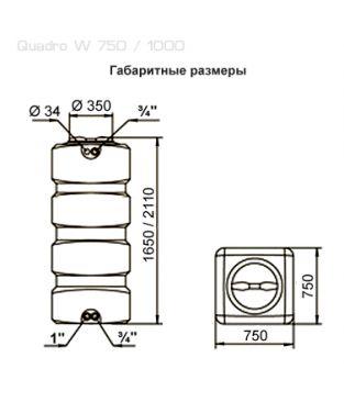 Баки для воды Aquatech ATP / Quadro W