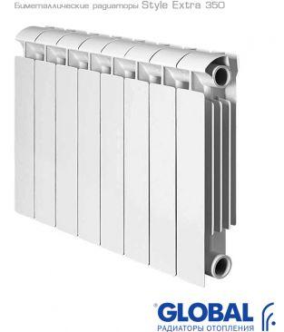 Биметаллические радиаторы отопления Global серии Style Extra 350