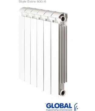 Биметаллический радиатор отопления Global Style Extra 500 6 секций