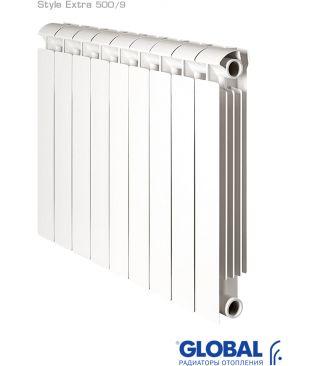 Биметаллический радиатор отопления Global Style Extra 500 9 секций