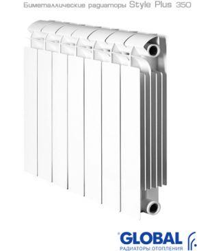 Биметаллический радиатор отопления Global Style Plus 350 9 секций