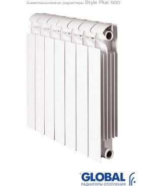 Биметаллический радиатор отопления Global Style Plus 500 10 секций
