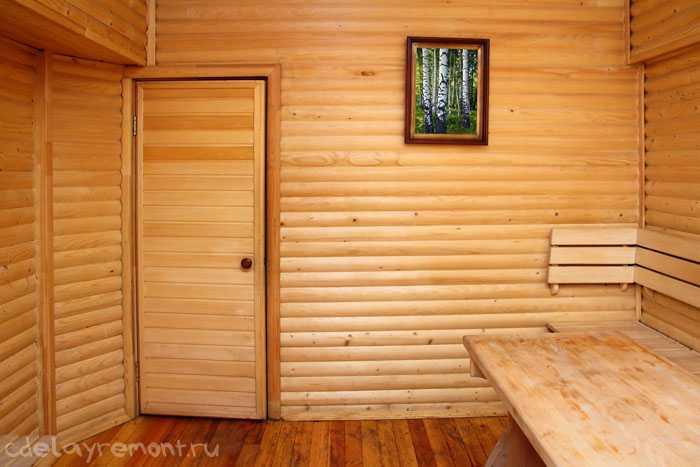 Дверь для сауны из вагонки