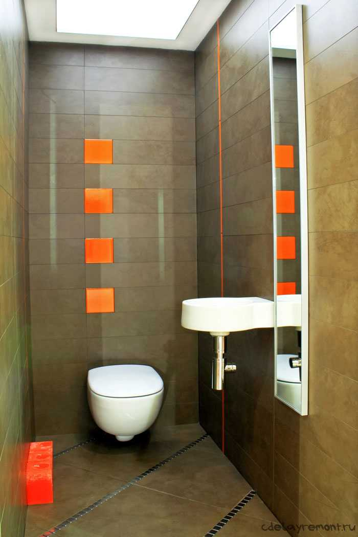 Туалет 1.5 на 1.5 дизайн