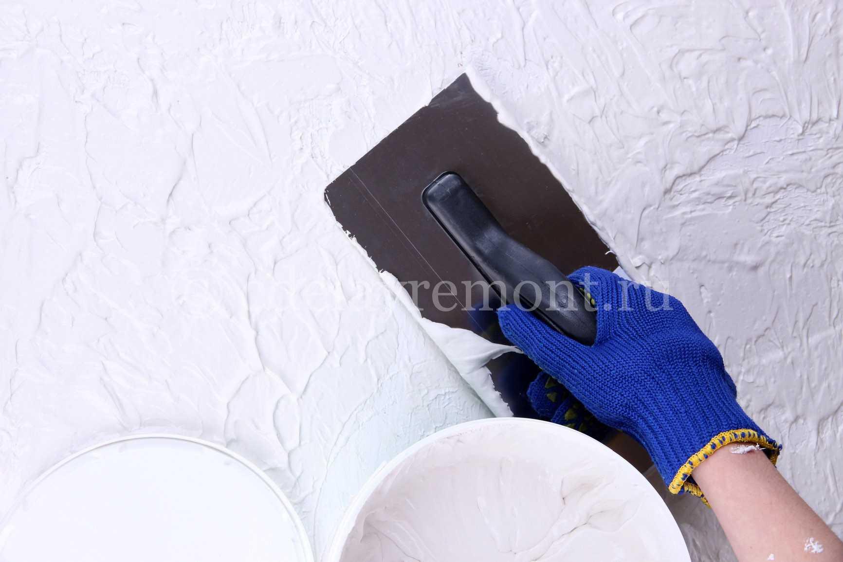Декоративная штукатурка своими руками из обычной шпаклевки фото