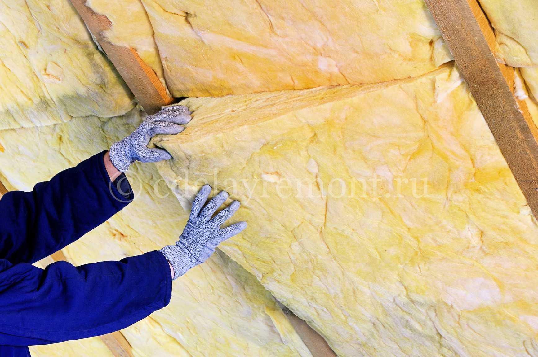 Утепление крыши минеральной ватой
