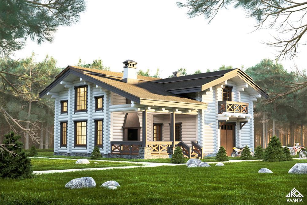 Проект гостевого дома с баней «Сенеж»