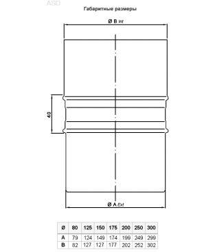 Адаптер ASD 200 для одностенного дымохода Bofill