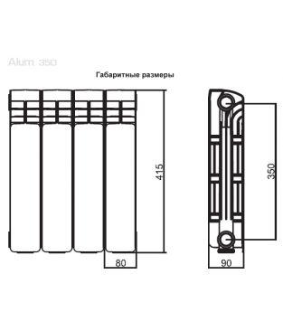 Алюминиевые радиаторы отопления Rifar серии Alum 350