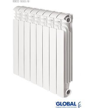Алюминиевый радиатор отопления Global ISEO 500 8 секций