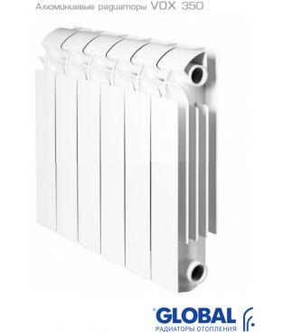 Алюминиевый радиатор отопления Global VOX R 350 11 секций
