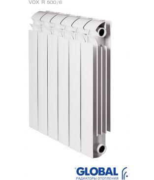Алюминиевый радиатор отопления Global VOX R 500 6 секций
