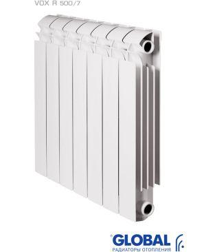 Алюминиевый радиатор отопления Global VOX R 500 7 секций