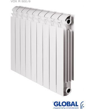 Алюминиевый радиатор отопления Global VOX R 500 9 секций