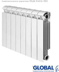 Биметаллический радиатор Global Global Style Extra 350 4 секции