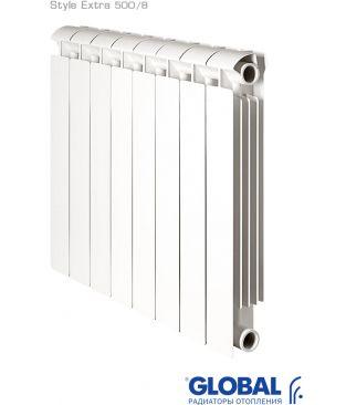 Биметаллический радиатор отопления Global Style Extra 500 8 секций
