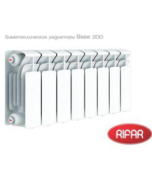Биметаллический радиатор отопления Rifar Base 200 6 секций