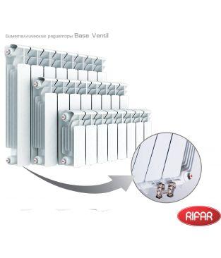 Биметаллический радиатор отопления Rifar Base 350 Ventil 8 секций