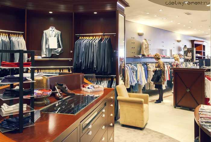 Вариант оформления магазина одежды