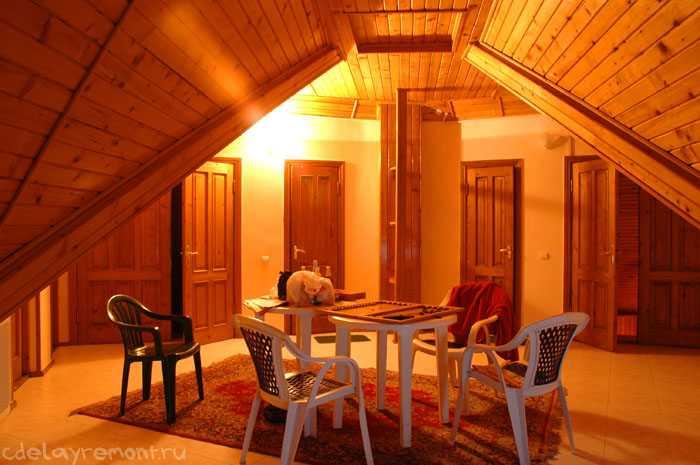 Фото отделки имитацией бруса внутри дома