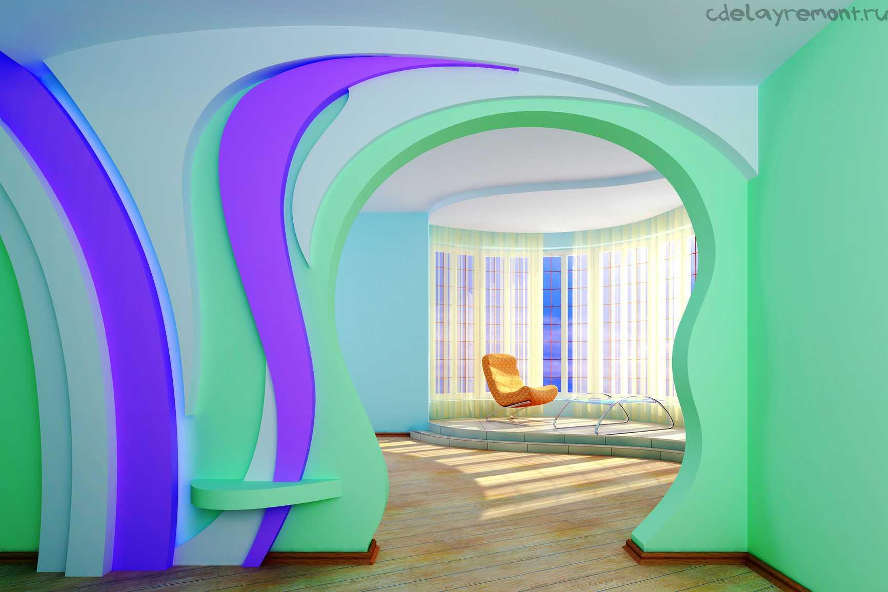 Межкомнатные арки вместо двери - фото деревянных и гипсокарт.