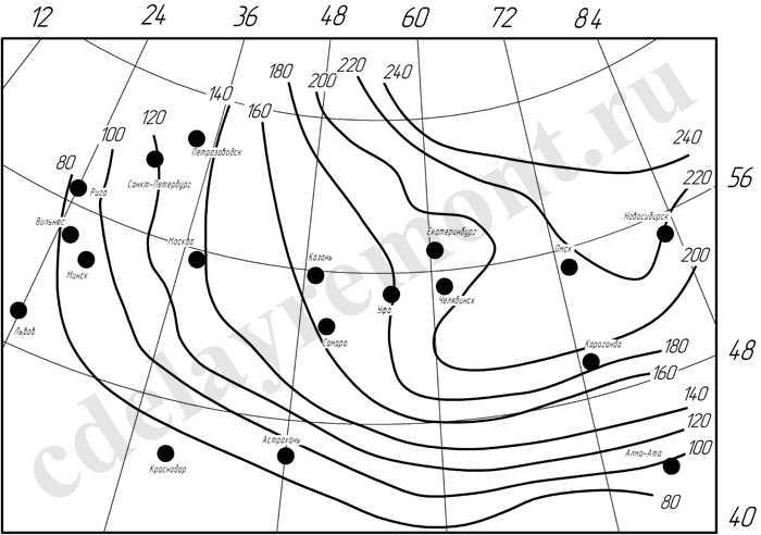 Определение глубины промерзания грунта