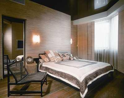 Фото спальной комнаты в тёплых тонах