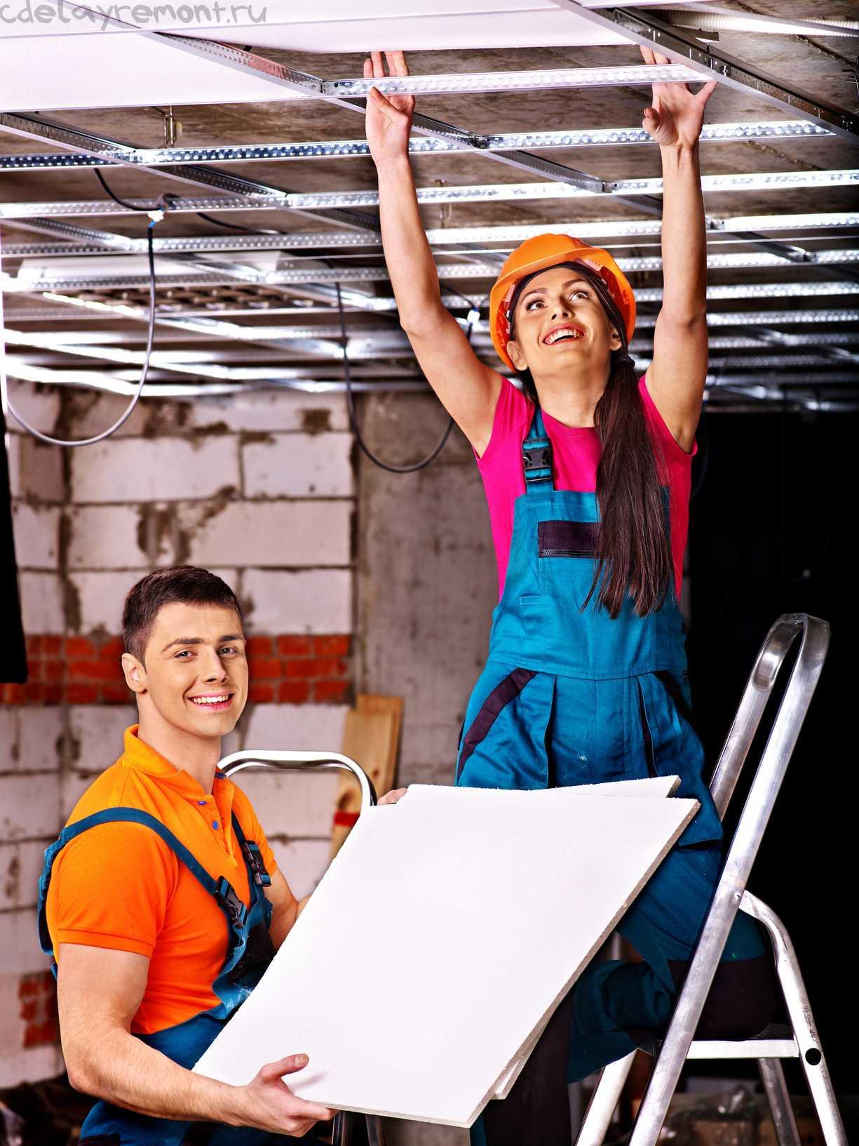 Изготовление каркаса для потолка