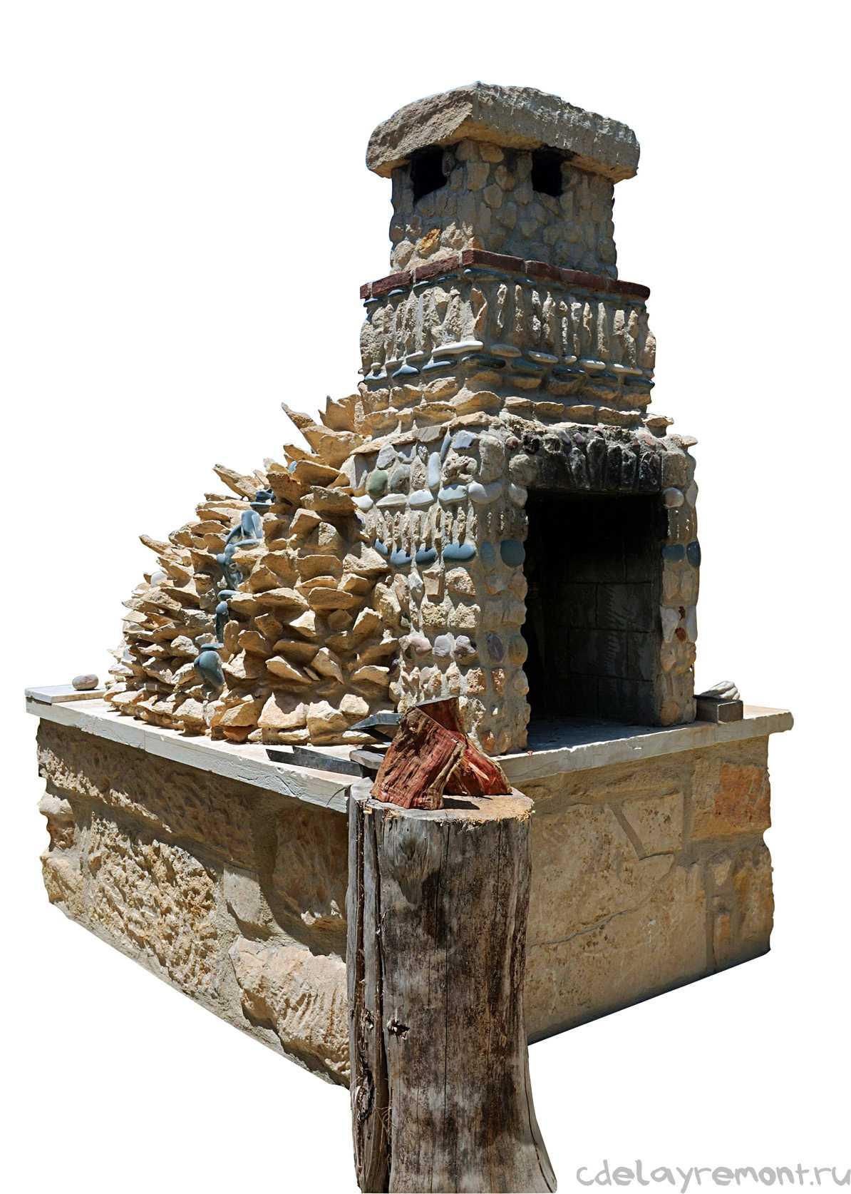 Массивный каменный мангал