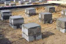 Строительство фундамента под баню