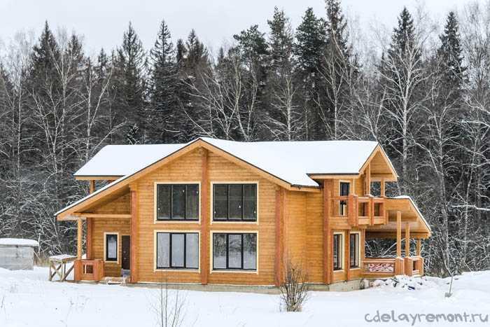 Современный финский дом из клееного бруса