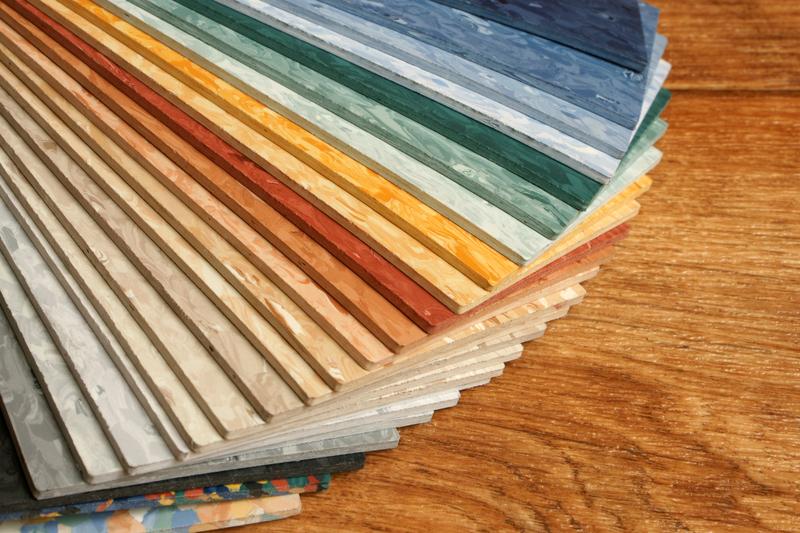 Разнообразие цветов ПВХ плитки
