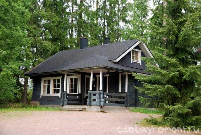Стильный дом из бруса