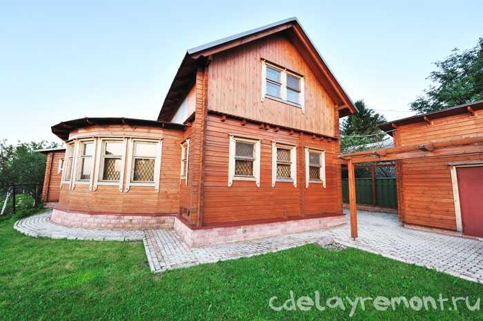 Применение гнутого бруса в строительстве домов