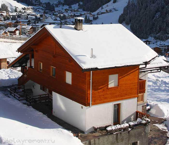 Фото дома, построенного из профбруса