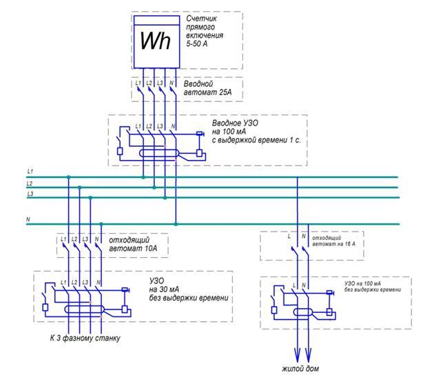 3 фазное схема подключения фото 270
