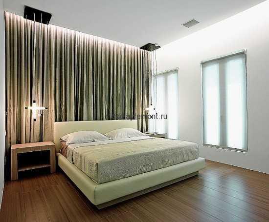 Фото спальни в стиле минимализм