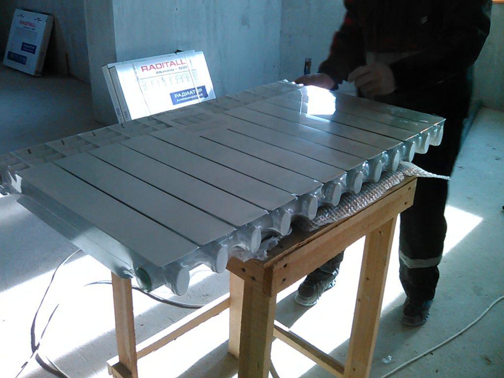 Сборка радиатора