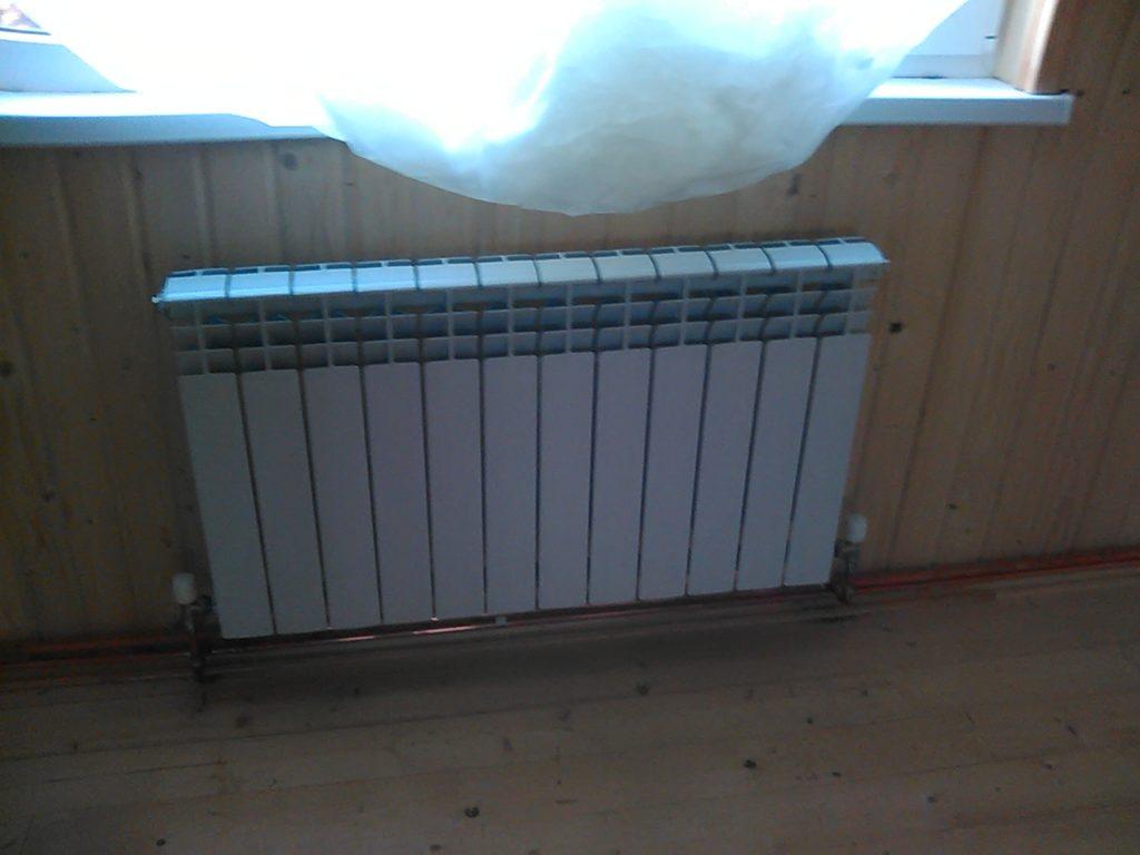 Алюминиевые радиаторы в деревянном доме