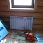 Монтаж отопления деревянного дома
