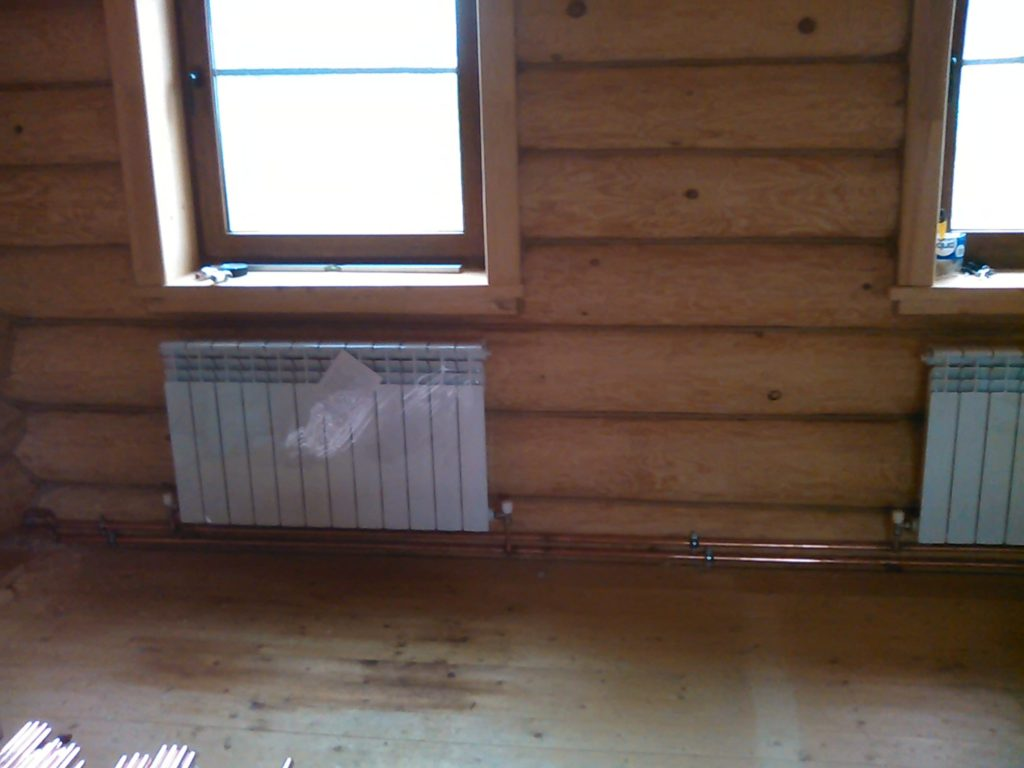 Комбинированное водяное отопление дома