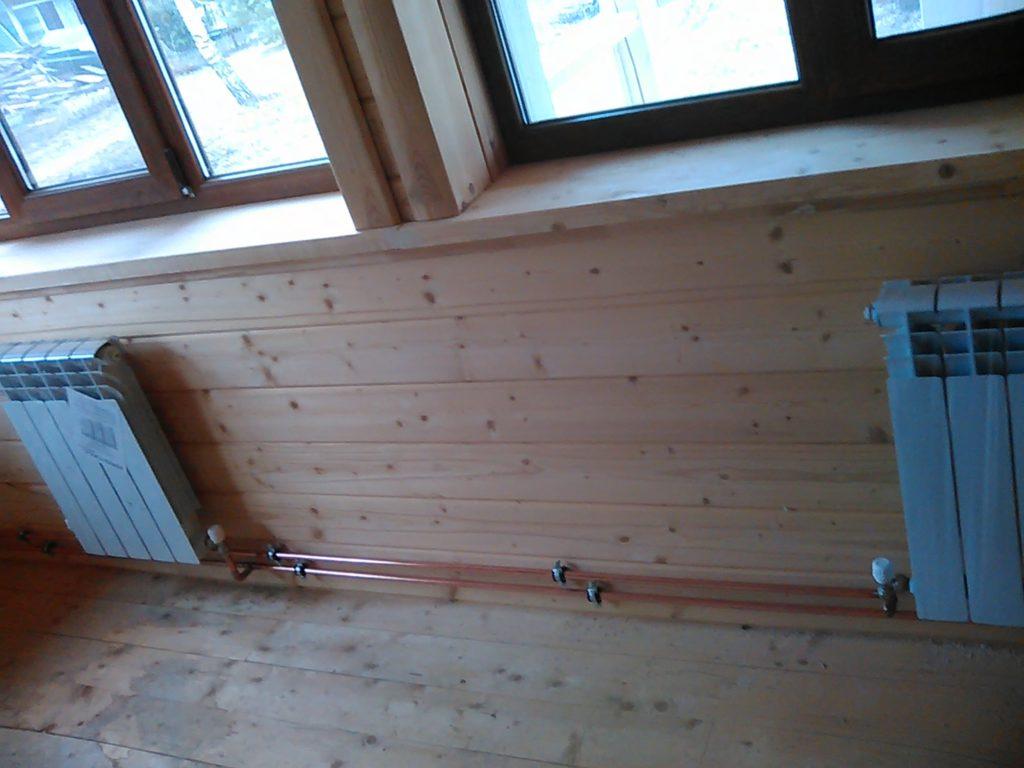 Комбинированное дровяное отопление дачи