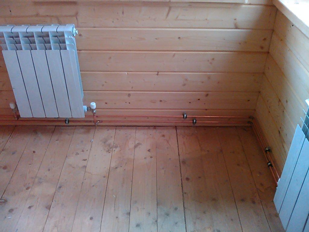 Комбинированное твердотопливное отопление дома