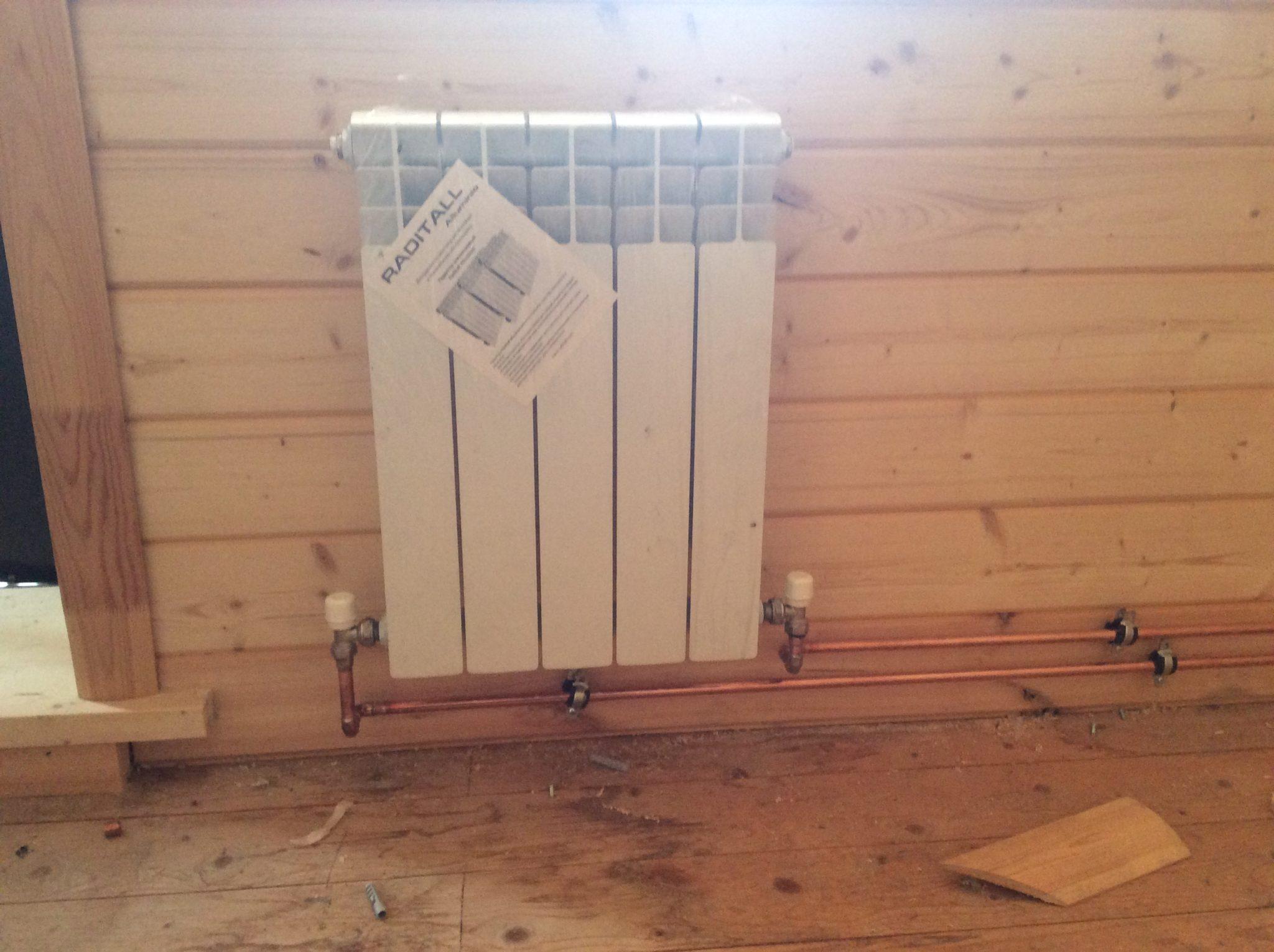 Комбинированное отопление дачи на антифризе