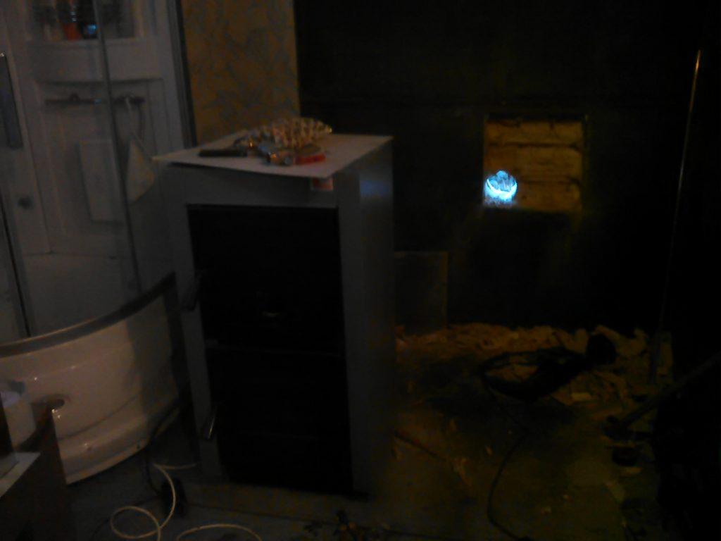 Сверление отверстия для дымохода