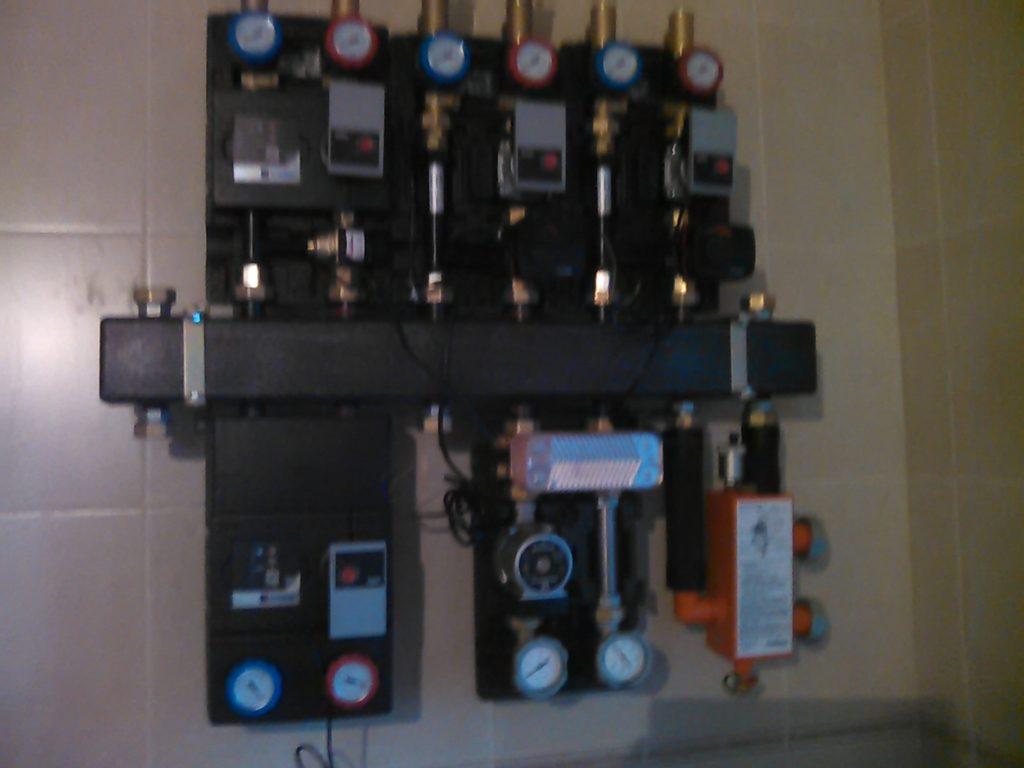 Отопление дачи насосными модулями
